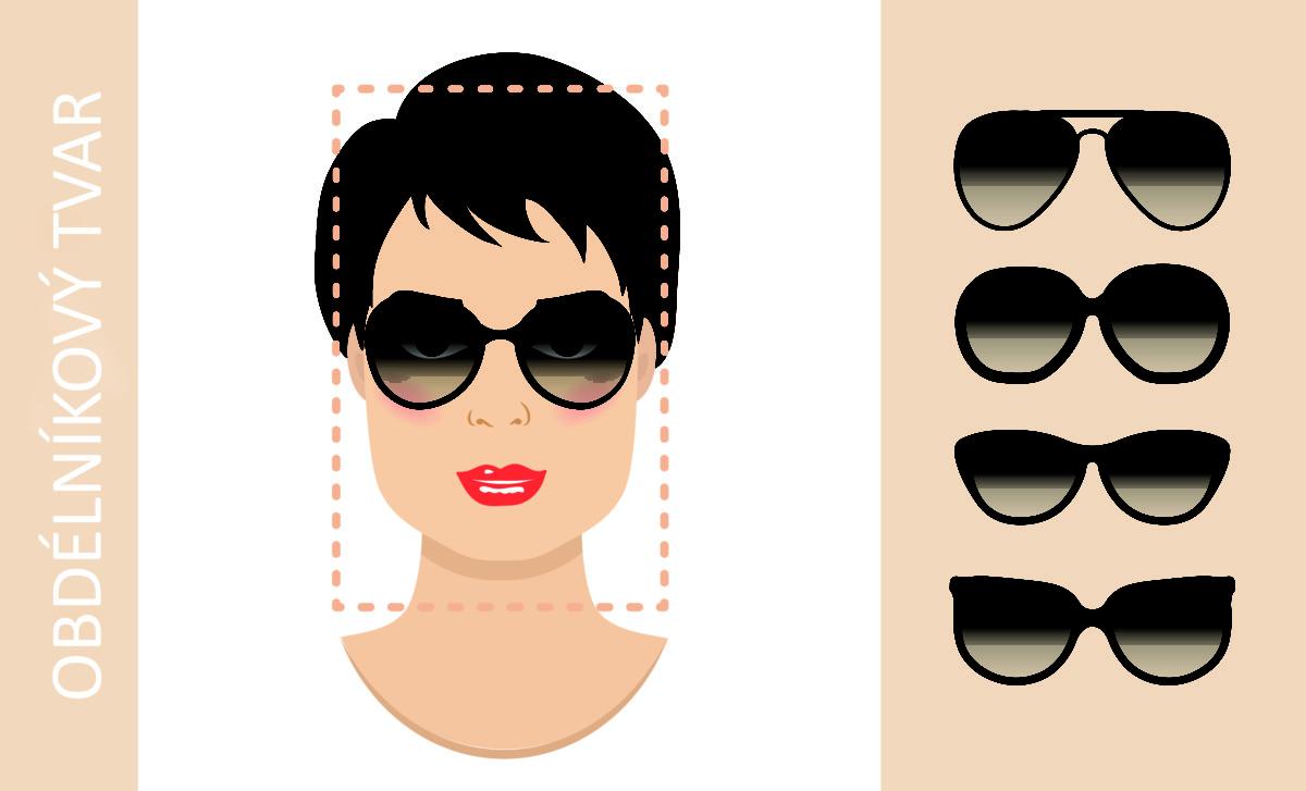 brýle podle tvaru obličeje - obdélníkový obličej