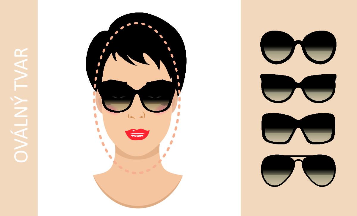 brýle podle tvaru obličeje - oválný obličej
